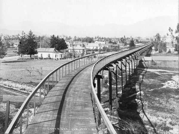 LA bicycle highway from 1900